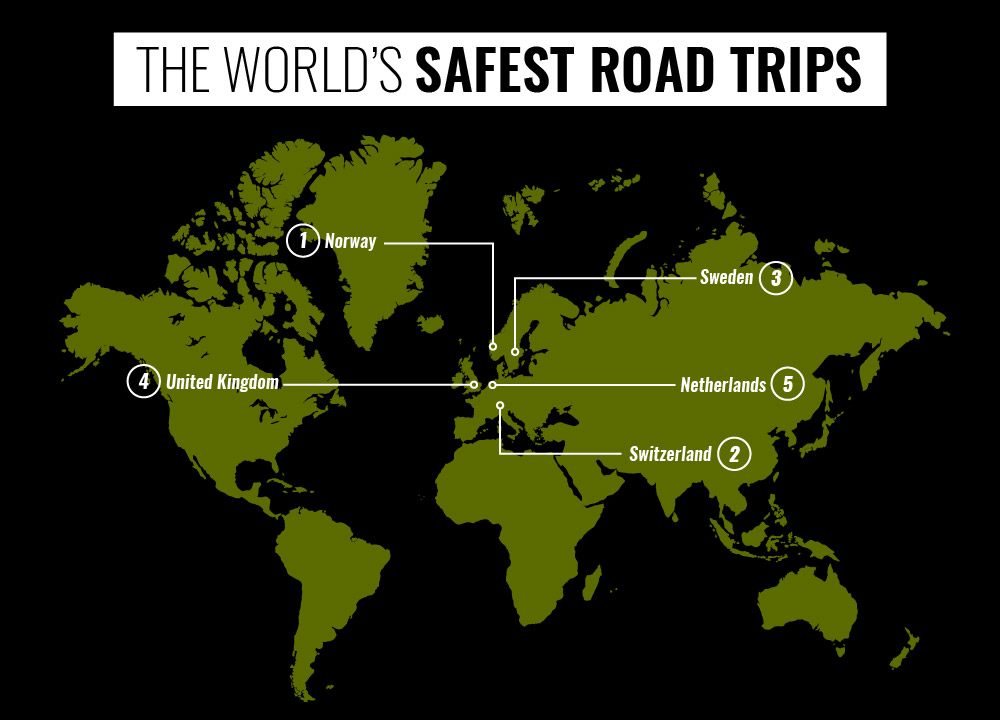 The Global Road Trip Index - The World's Safest Road Trips